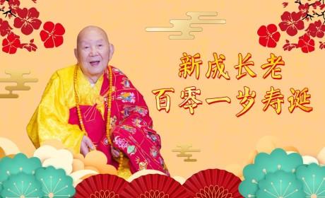 千年古刹百岁高僧,新成长老百零一岁寿诞(视频)