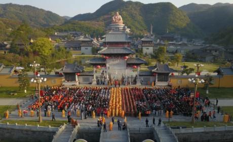 三月三纪念布袋弥勒成道日 浙江奉化雪窦山举行朝山祈福法会