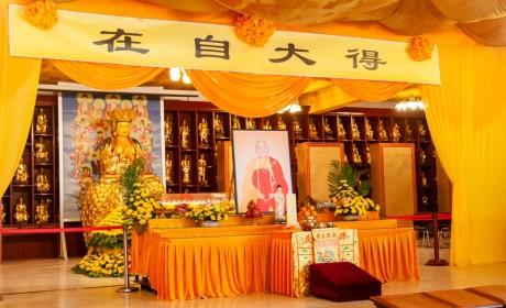博山正觉寺能行长老法体装龛 接受各界追思吊唁