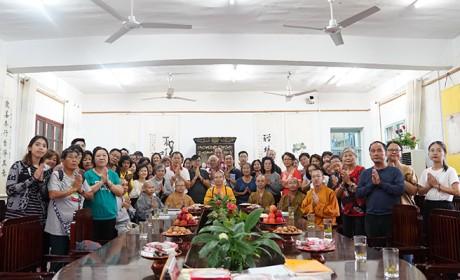 马来西亚佛教朝圣团一行朝礼禅宗祖庭安徽三祖禅寺