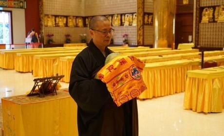 智慧長老灵骨舍利入塔安奉仪式在香港宝莲禅寺举行
