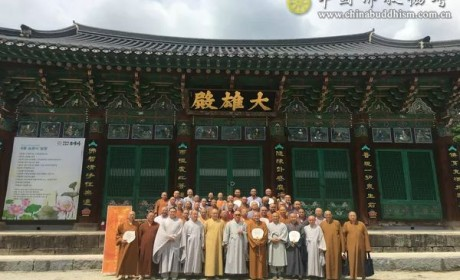 第11次中国僧人在韩国金山寺体验五天四夜修行活动圆满