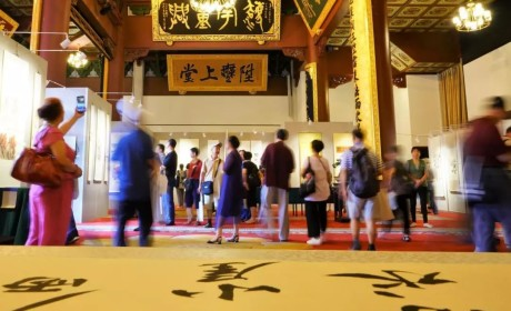 """庆祝祖国70周年华诞 """"千江印月·第四届云林公益书画联展""""在杭州灵隐寺展出"""
