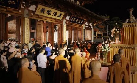 杭州径山寺中秋拜月祈福法会圆满 戒兴大和尚主法拈香