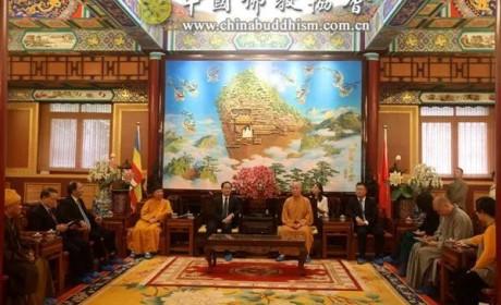 中国佛教协会演觉副会长会见越南政府宗教委员会主任武战胜