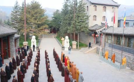 盛世中国  喜迎华诞   五台山全山僧众喜迎祖国七十周年华诞