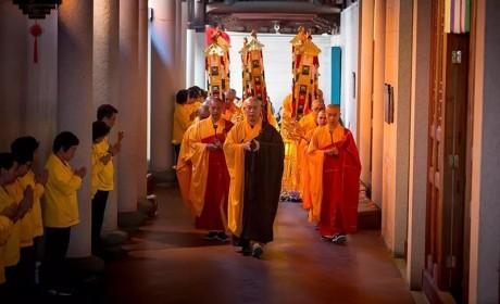南普陀寺隆重举行己亥年无遮水陆法会熏坛洒净仪式