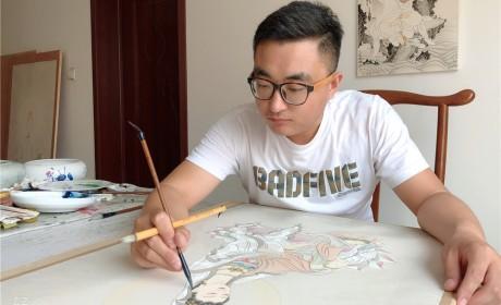 书画欣赏 | 千祥云集——艺术家石坤居士的佛画世界(多图)