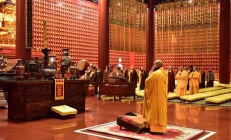 河北柏林禅寺隆重举行释迦牟尼佛成道日纪念法会及腊八送粥增福活动