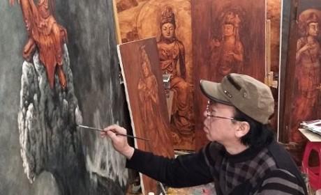 【多图欣赏】愿若菩萨降疫魔——佛系画家周俊茂再创新作
