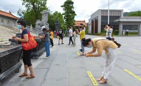 珠海普陀寺开放首日 十方善信网上预约有序参访