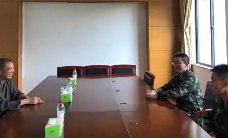 八一建军节 雪窦山佛教协会慰问武警消防官兵