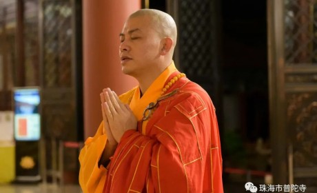 国际著名诗人、书画家李垚治先生参访珠海普陀寺 写下散文诗《书 僧》留住法喜