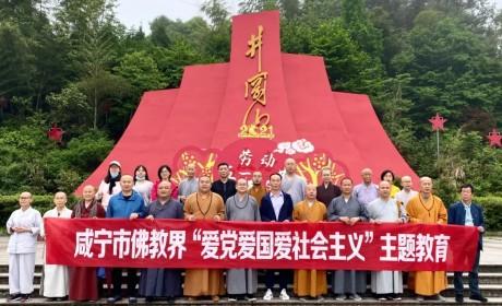 """湖北咸宁市佛教协会积极组织开展 """"爱党爱国爱社会主义""""主题教育活动"""